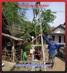 paket pju solarcell tenaga surya 100w