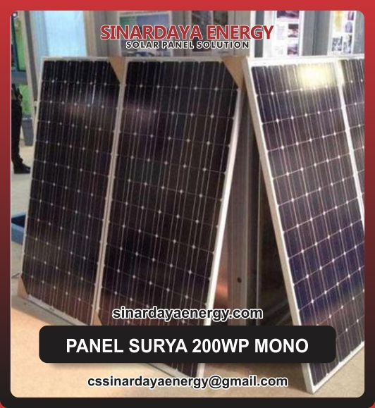 harga Panel Surya Solarcell 200Wp Mono