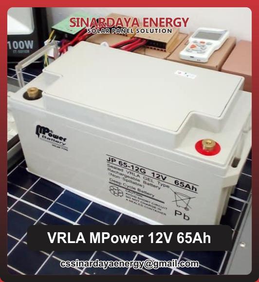 jual Baterai UPS VRLA Mpower 65Ah