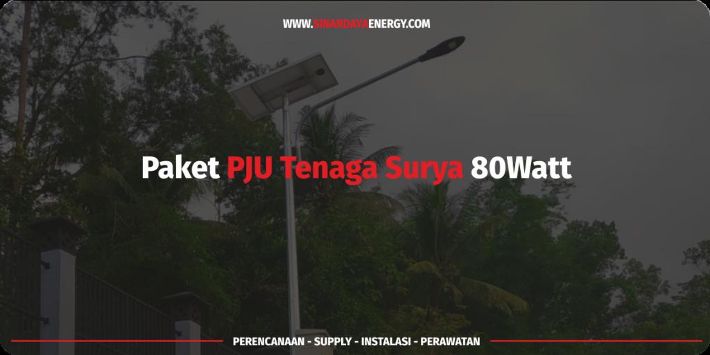jual Paket PJU Solarcell Surya 80 watt