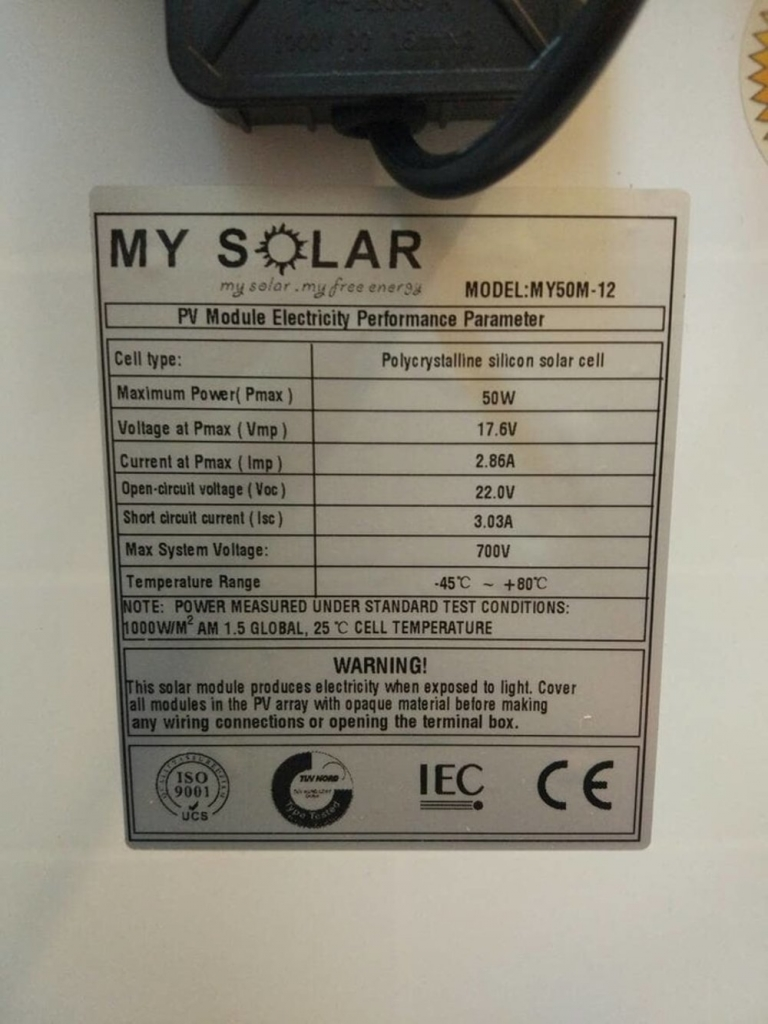 jual my solar 50wp poly
