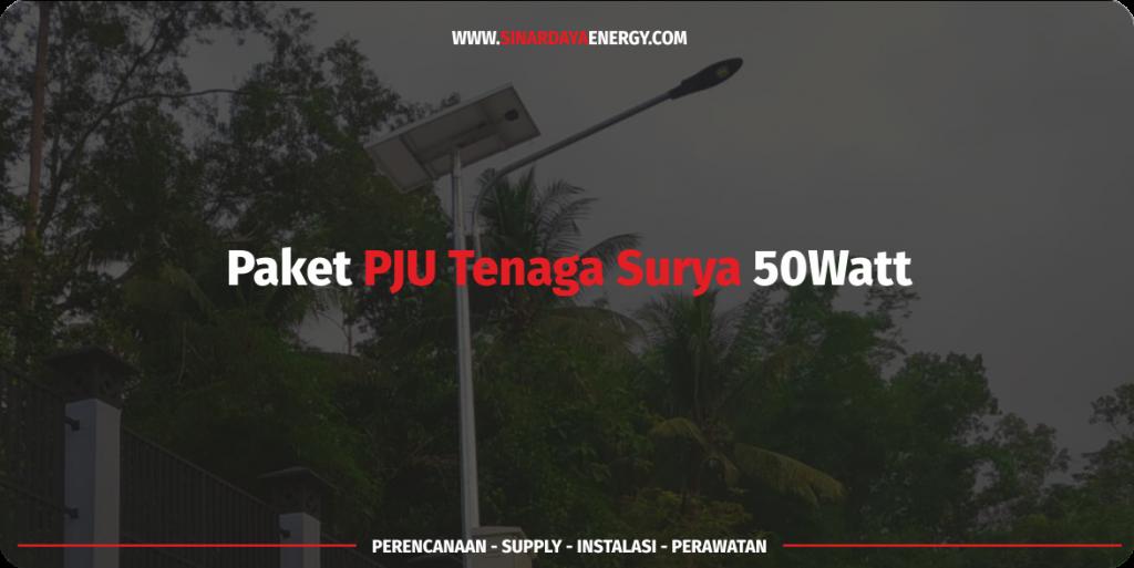 jual paket Lampu PJU Tenaga Surya LED 50w