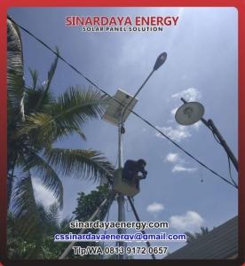 jual paket pju solarcell tenaga surya 80watt