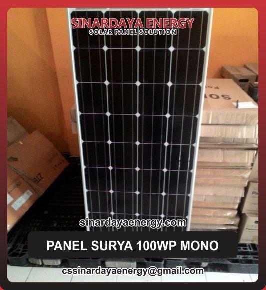 jual solar panel surya 100Wp Mono