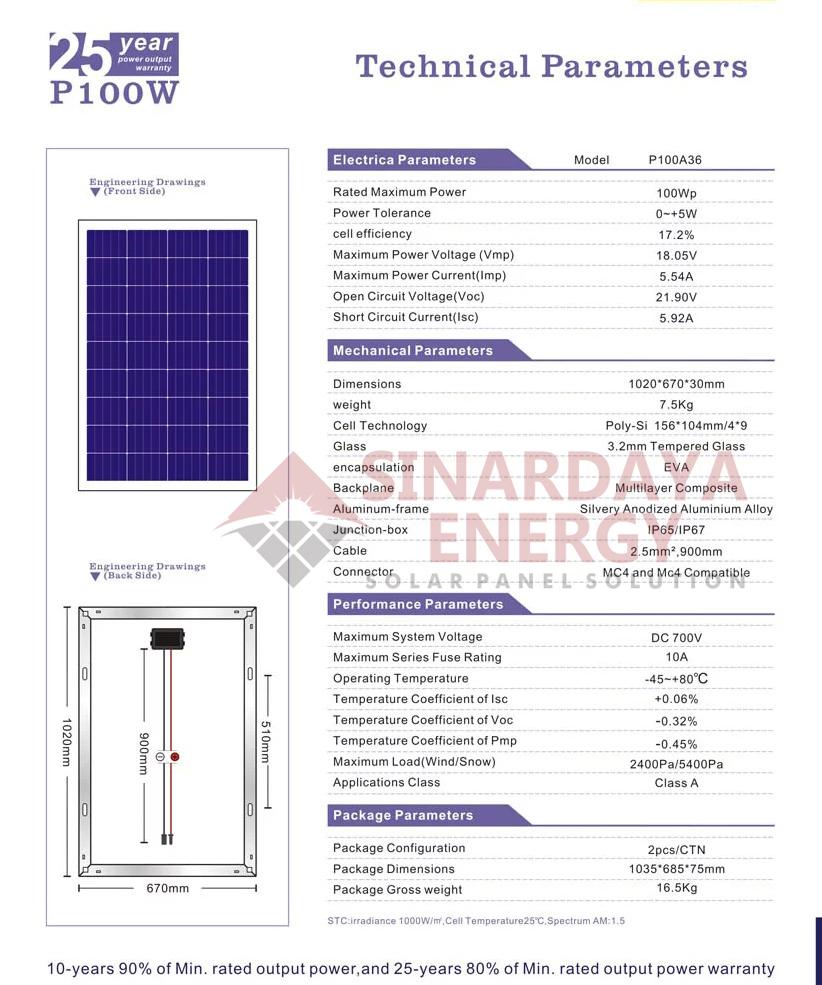 distributor solarcell surya 100wp bergaransi