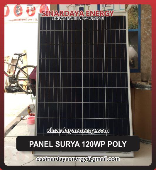 harga Solarcell Surya 120 wp Poly