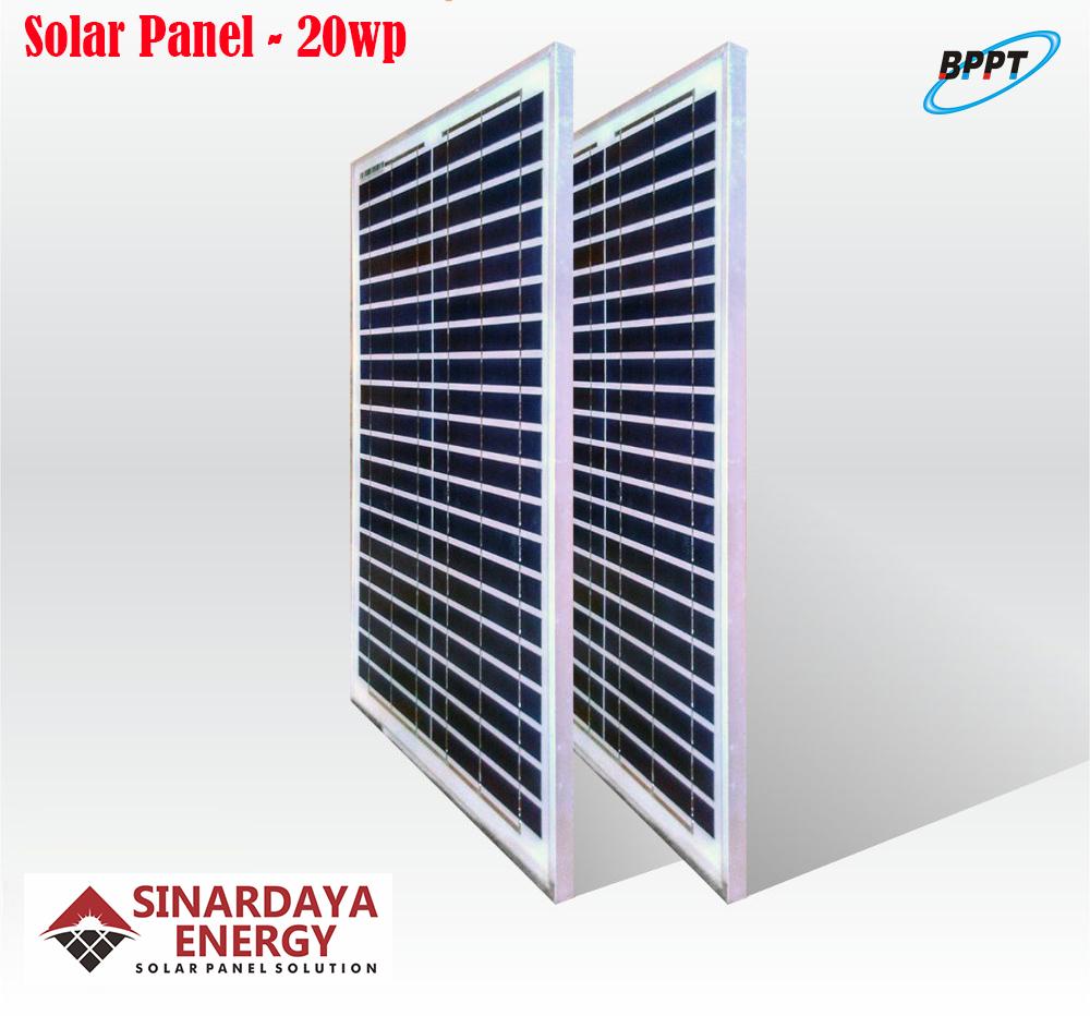 harga solarpanel 20wp bppt