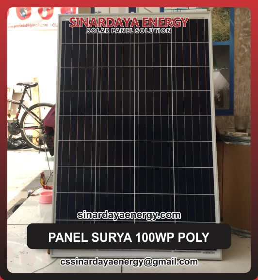 jual panel surya 100wp poly