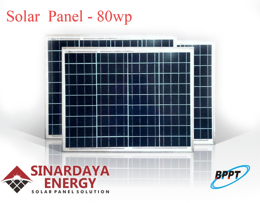 jual panel surya 80wp bppt