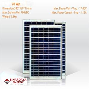 jual solarcell 20wp bppt