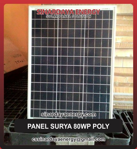 jual solarcell 80wp poly