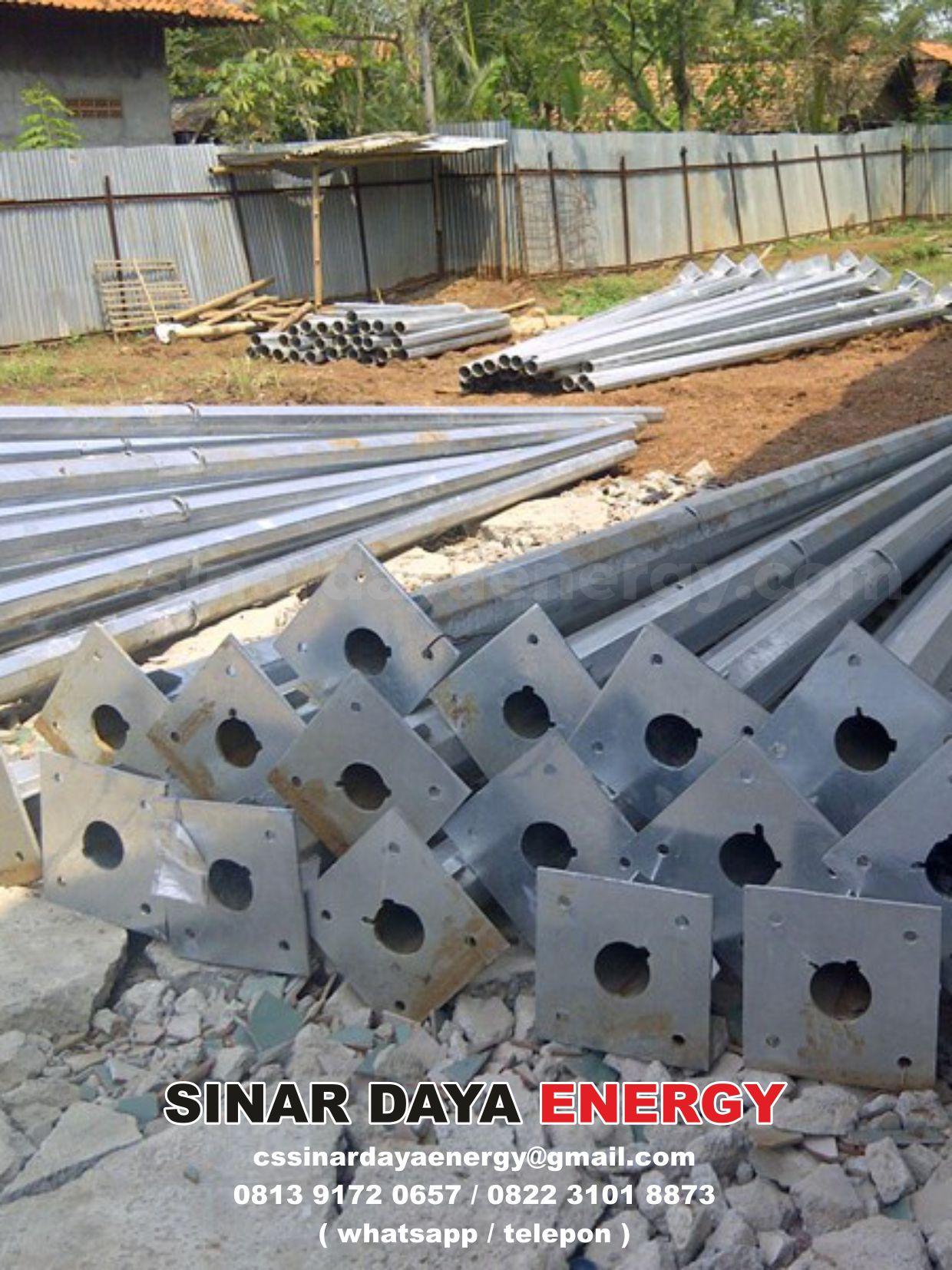Tiang Galvanis 8m Oktagonal Single Arm