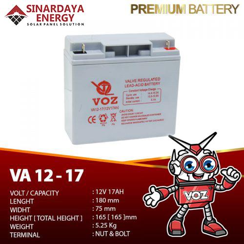 jual Baterai VRLA VOZ 12v-17Ah