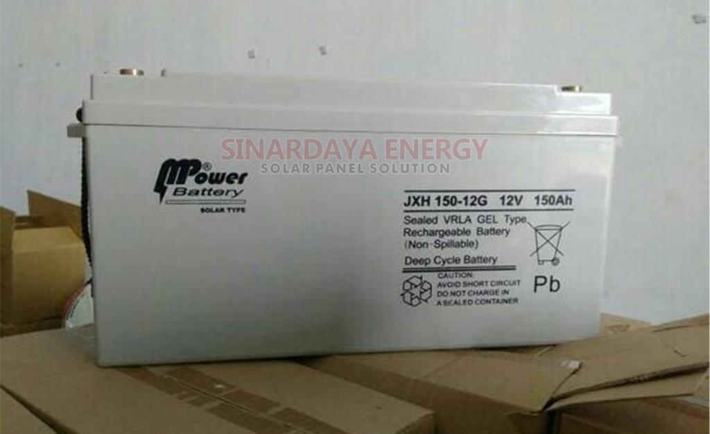 jual VRLA Baterai Solarcell Mpower 150ah