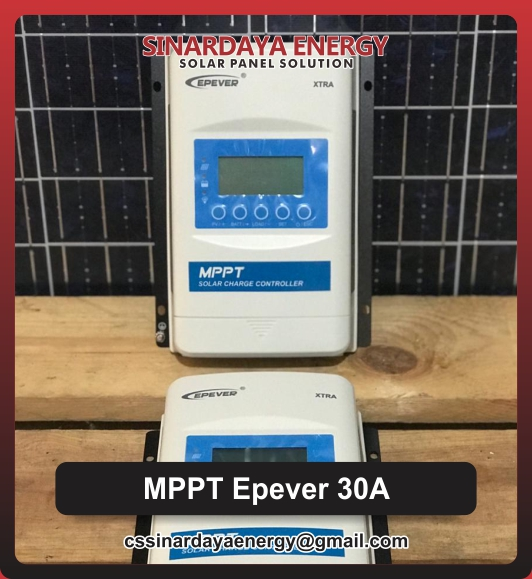 jual Epever 30A MPPT Solar Charge Controller
