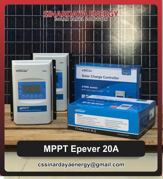 jual MPPT Epever Solar Charge Controller 20A