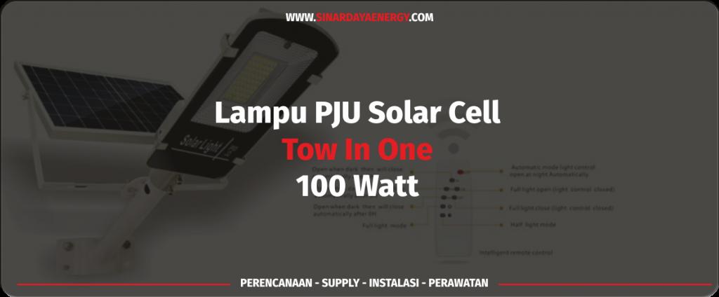 beli Lampu PJU Tenaga Surya 2in1 100watt