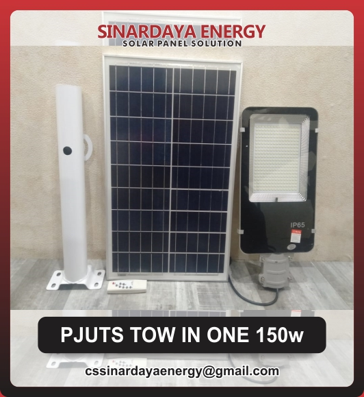 jual lampu solar panel surya 2in1