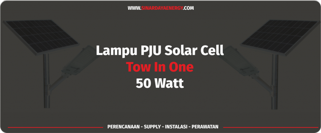 paket pju tenaga surya 2in1 50watt