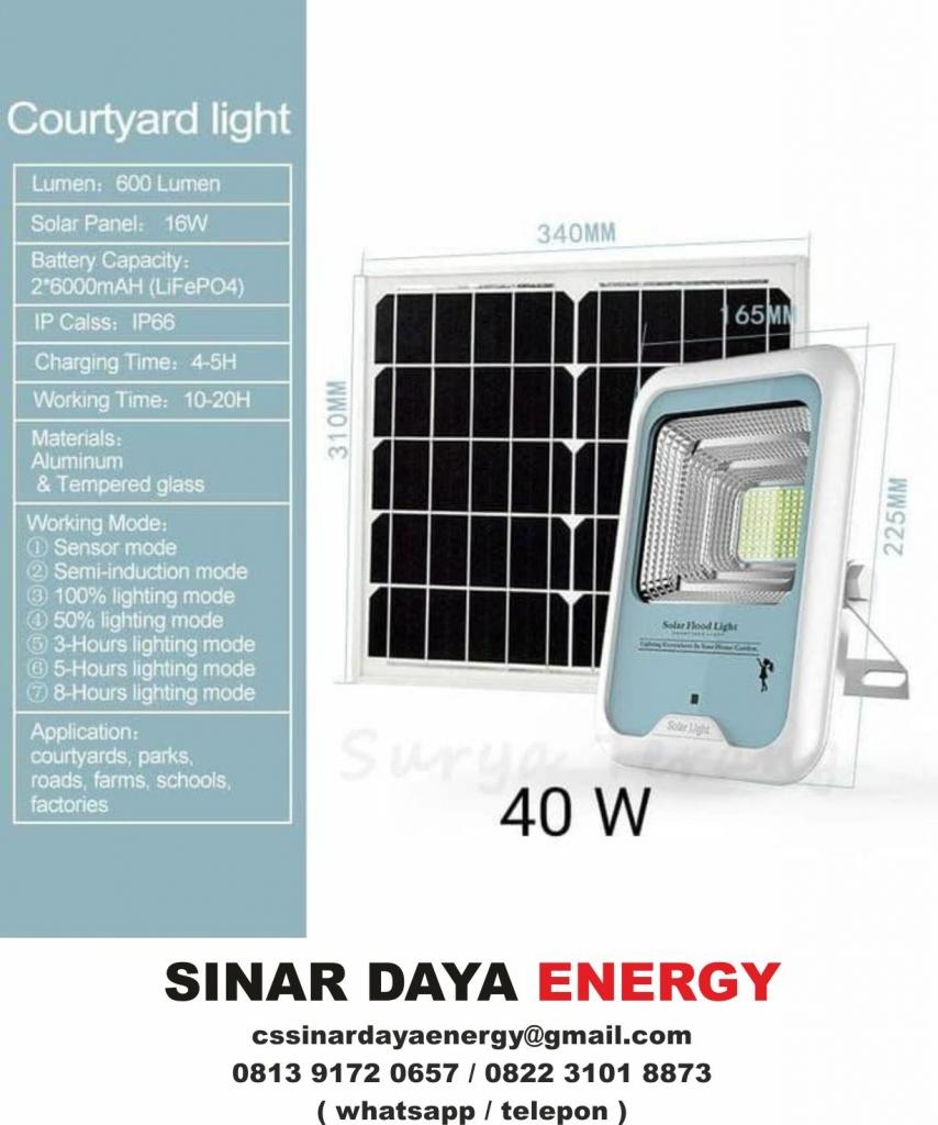 beli lampu sorot tenaga surya