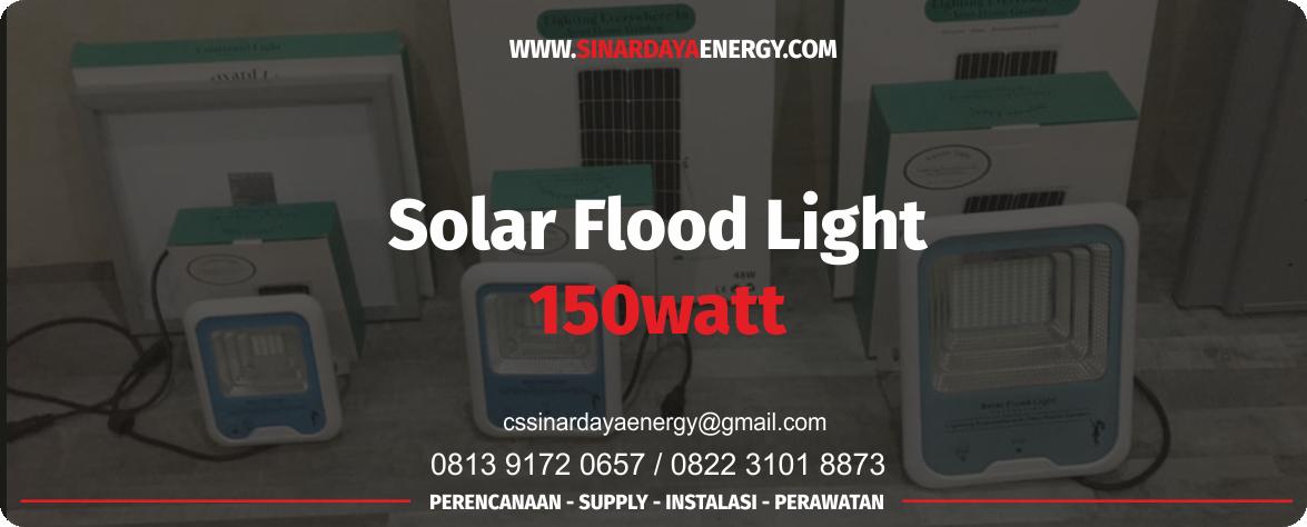 jual Lampu Sorot Solarcell 150watt