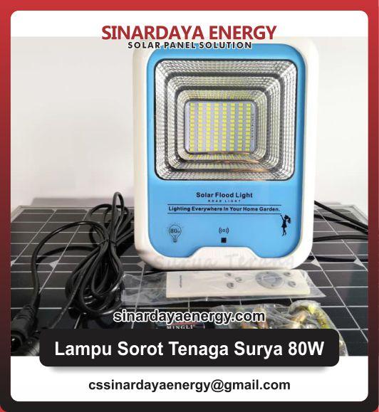 jual Lampu Sorot Tenaga Surya 80watt