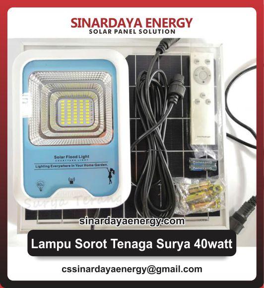 jual Solar Flood Light 40watt