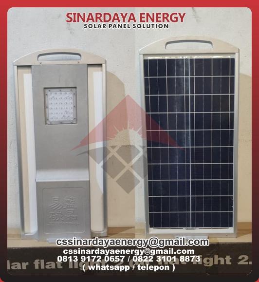 HargaLampu PJU Solar Flat Light