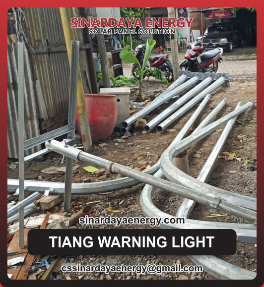 Harga Tiang Warning Light Oktagonal Galvanis