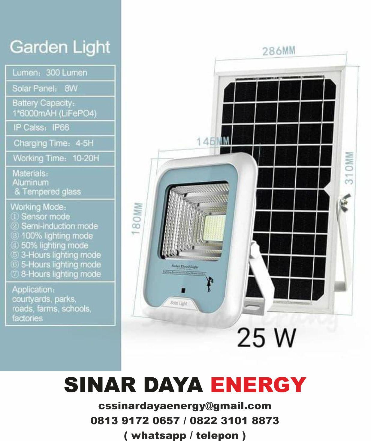 Paket Lampu Sorot LED Tenaga Surya