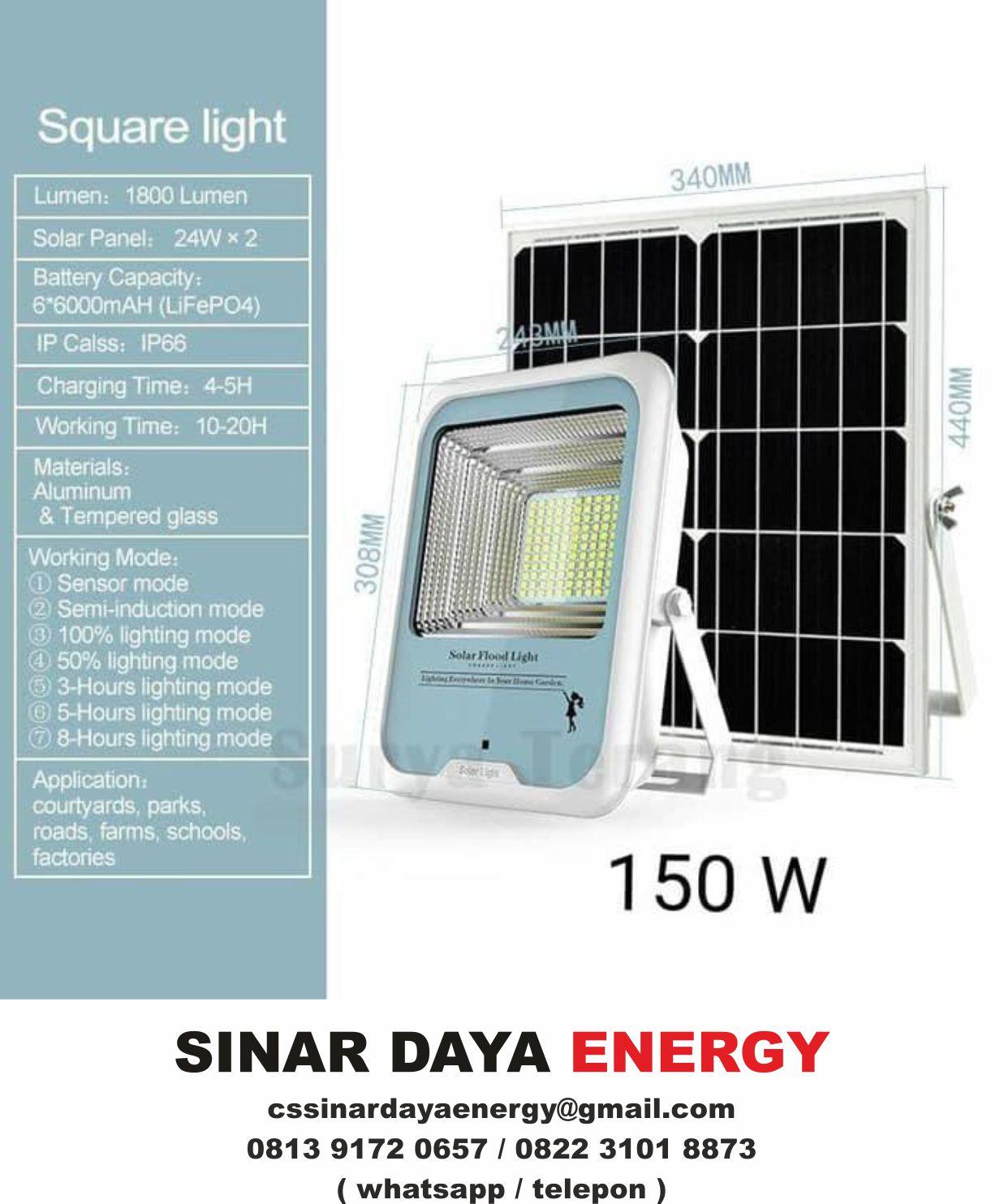 beli Lampu Sorot Solarcell 150watt