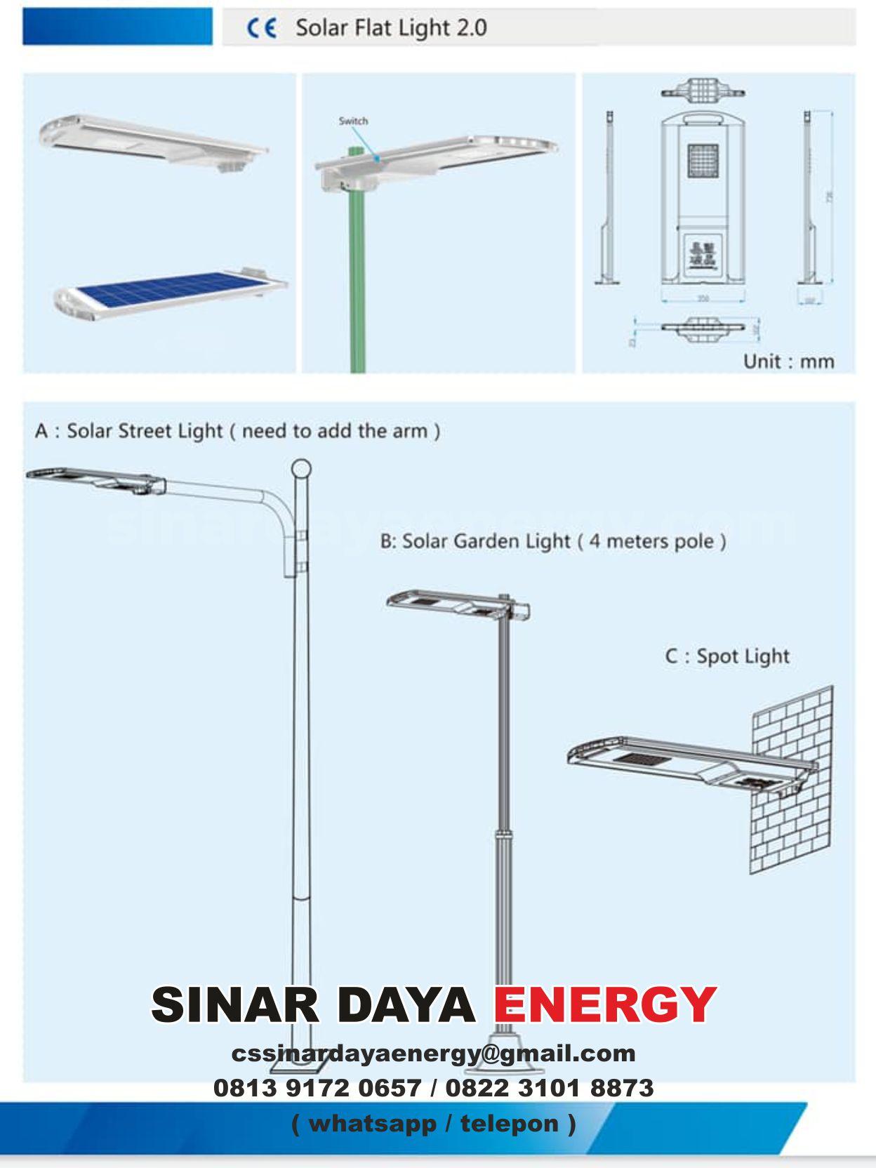 beli Solar Flat Light 20W