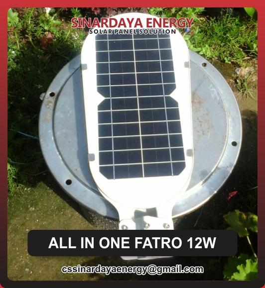 jual Lampu Tenaga Surya All In One Fatro 12w