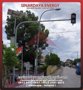 harga Tiang Warning Light Tenaga Surya