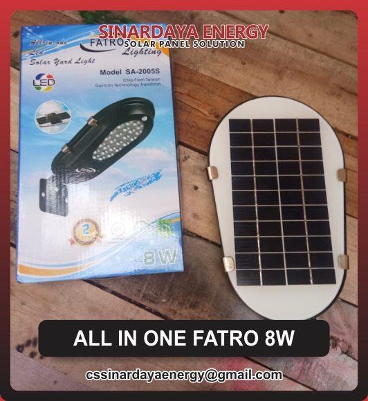 jual Lampu PJU Solarcell All In One 8watt Fatro