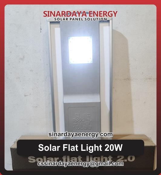 jual Lampu Solar Flat Light 20W