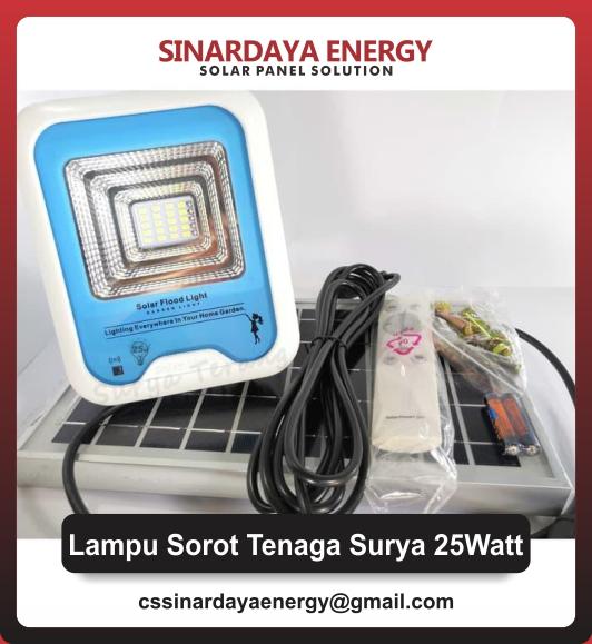 jual Lampu Sorot LED Tenaga Surya 25 Watt