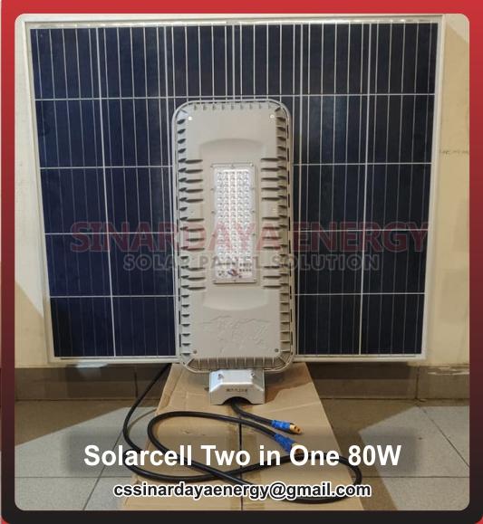 jual Lampu PJU LED Solar Cell 80watt Bluecarbon