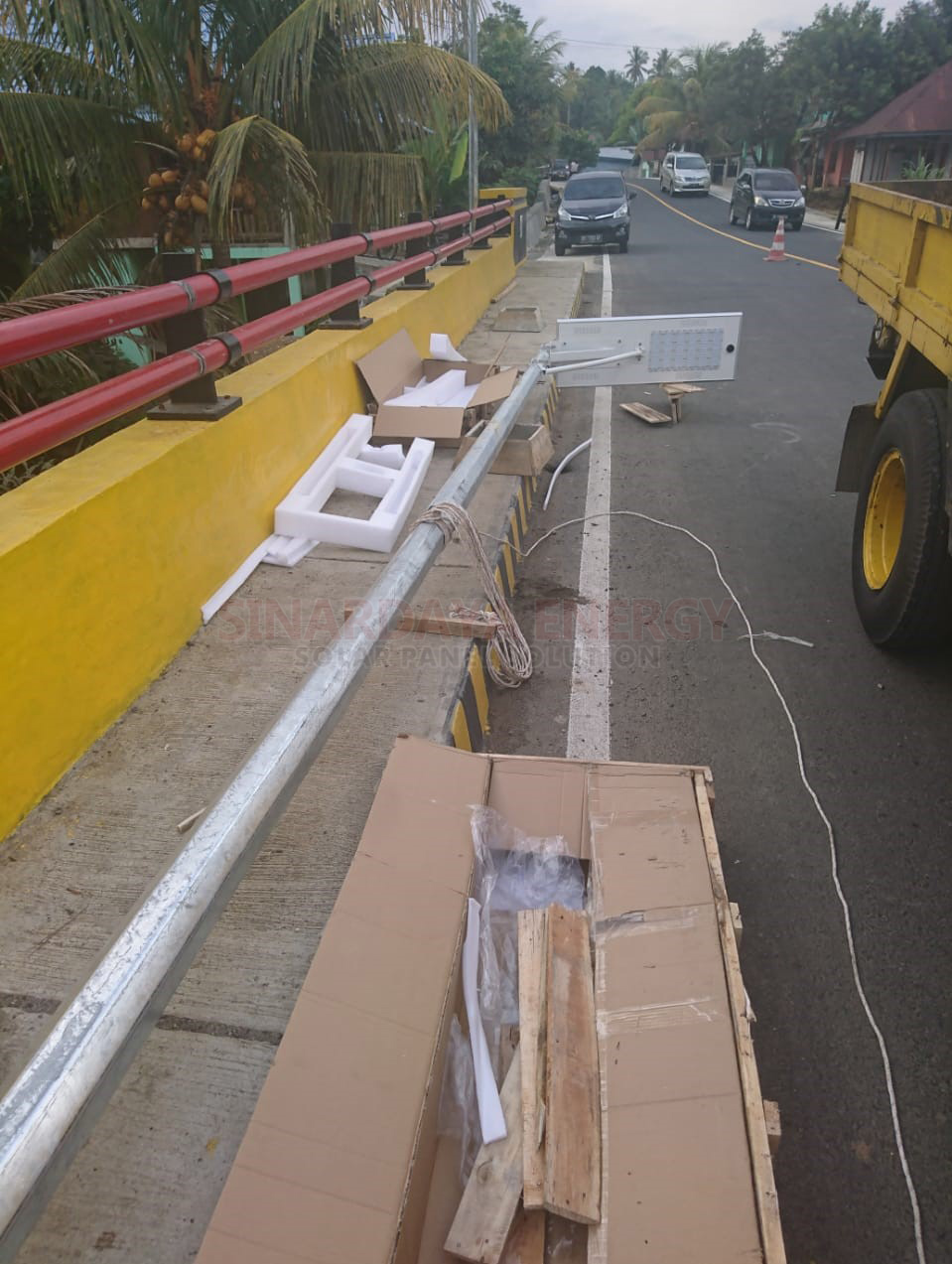 paket pju solarcell all in one