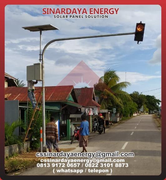 Paket Lampu Solarcell Warning Light 2 Aspek