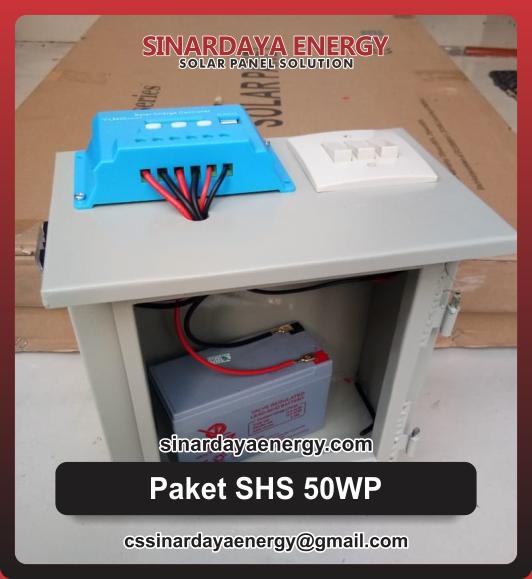 Paket Solarcell Mini 50wp Untuk Rumah