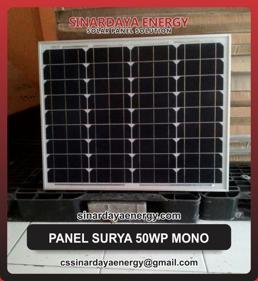 jual Modul Solarcell 50Wp Mono