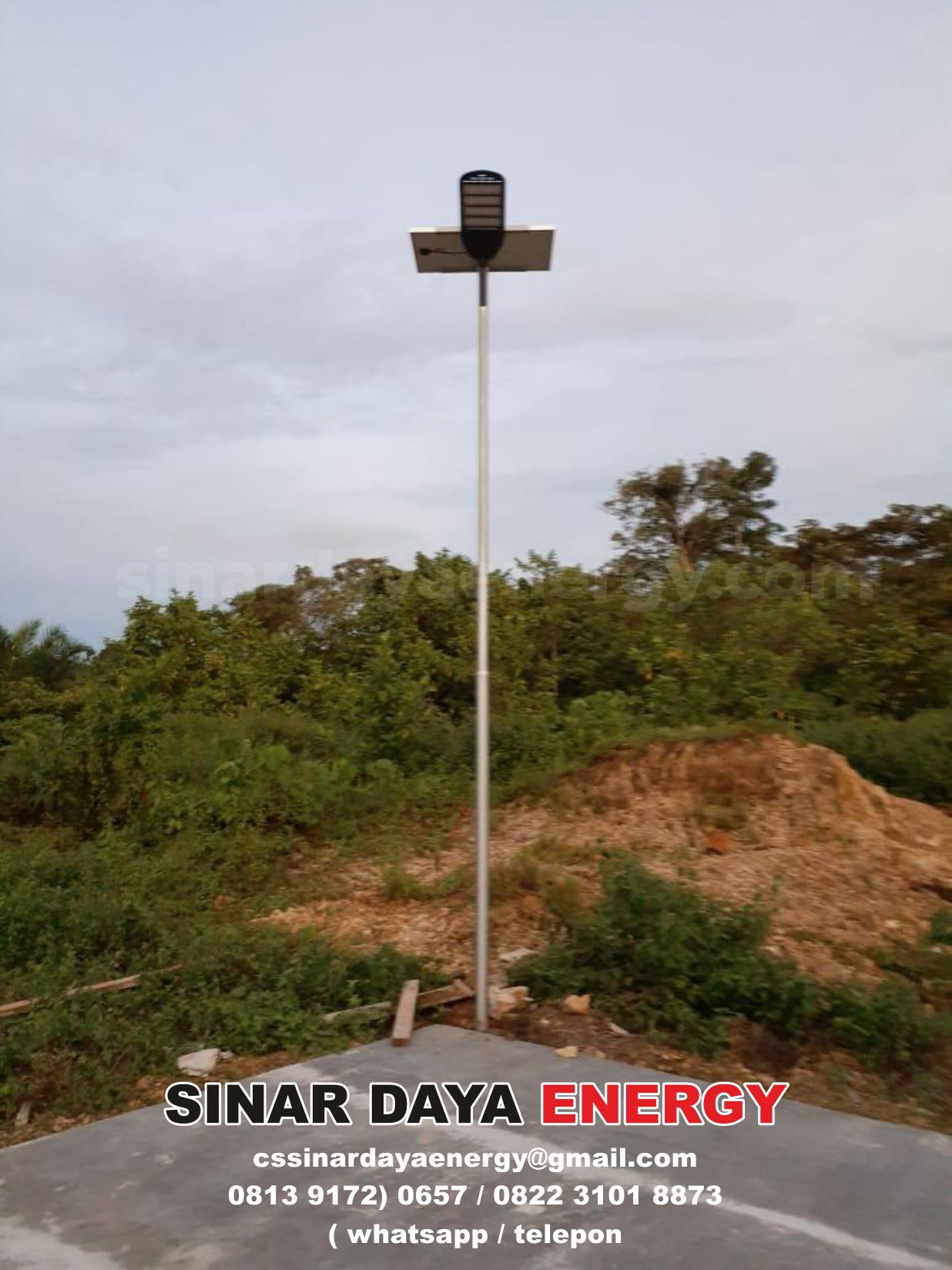 lampu jalan solarcell 2in1 papua