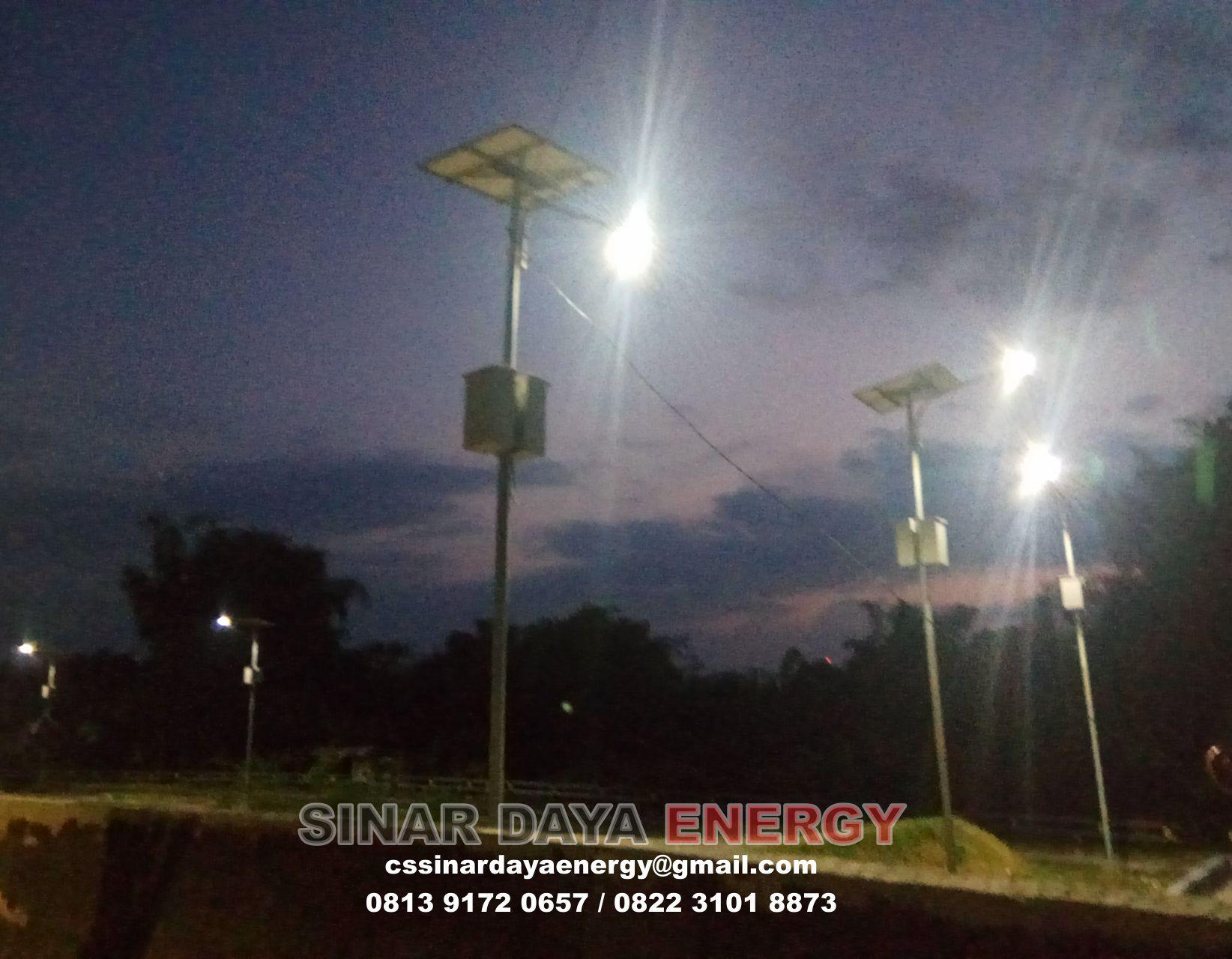 paket lampu jalan solarcell papua