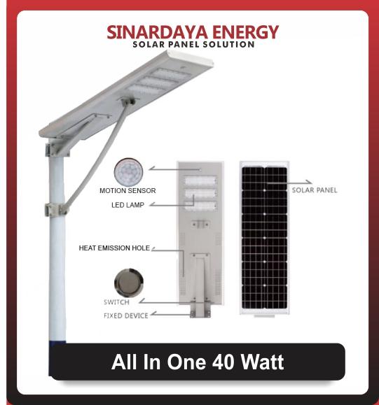 Lampu PJU Solarcell All In One 40watt