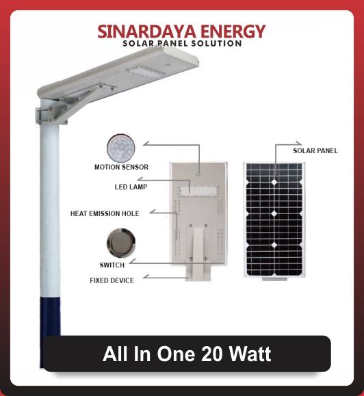 Lampu Solarcell All In One 20watt