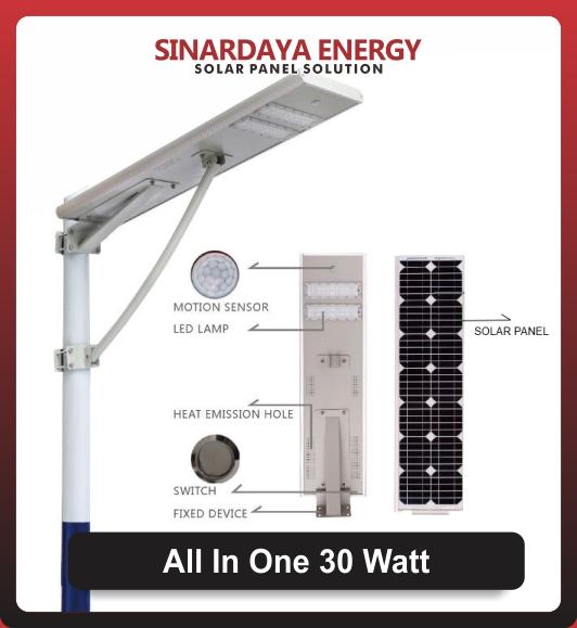 lampu jalan Solarcell All In One 30watt