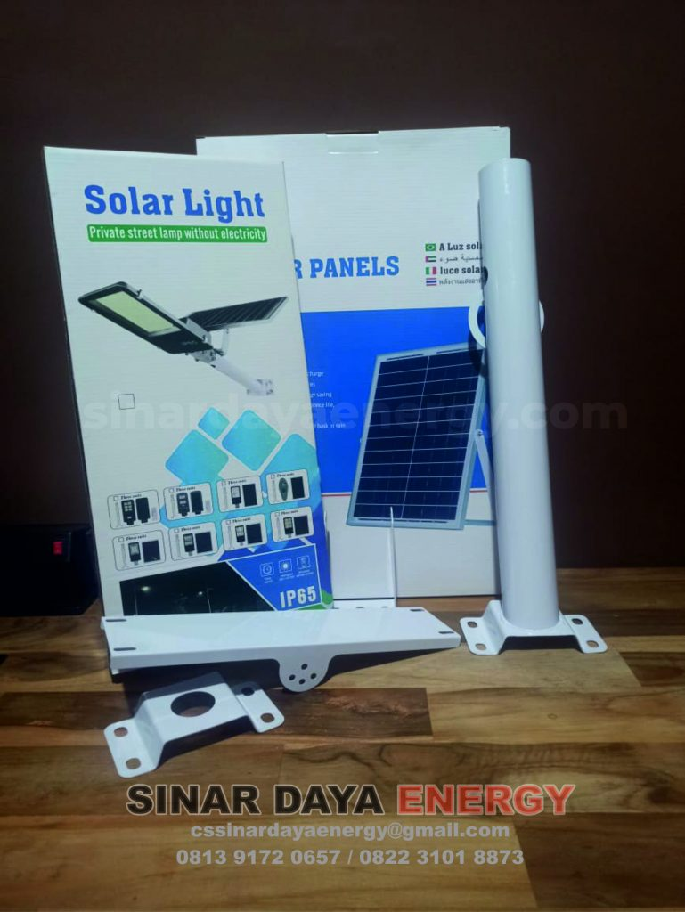 paket Lampu solarcell 2in1