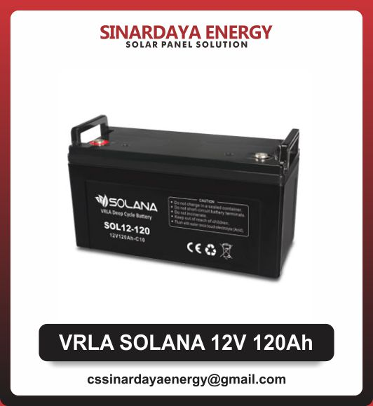 jual baterai solarcell 120ah solana