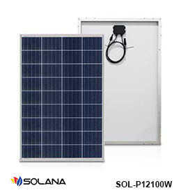 harga panel surya 100wp poly